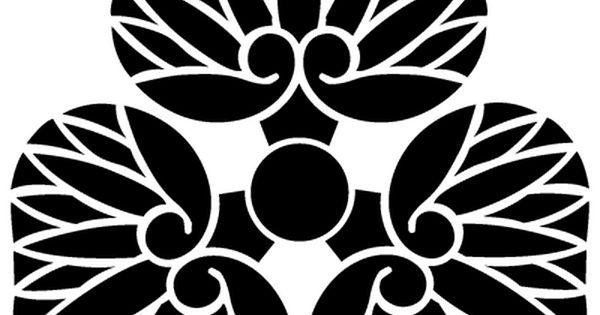尻あわせ三つ葵 家紋 紋章 アートデザイン