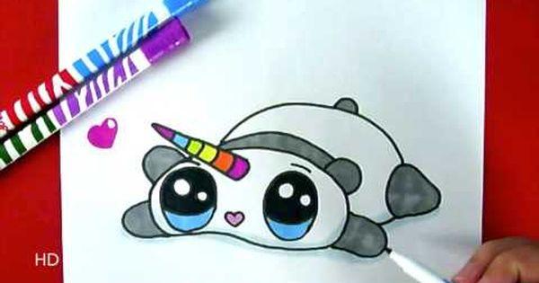 Kiwi dessin comment dessiner un panda kawaii licorne - Panda a dessiner ...