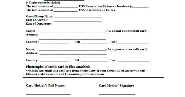 sample credit card authorization letter documents pdf word for - sample credit card authorization letter