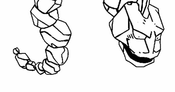 Pokemon Onix Coloring Pages 1