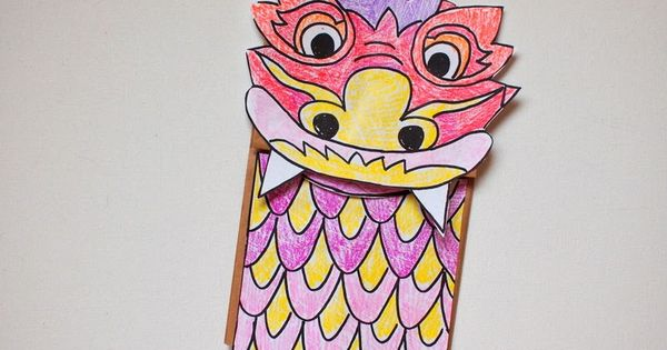 two chinese new year dragon crafts dragon puppet puppet and paper bag puppets. Black Bedroom Furniture Sets. Home Design Ideas