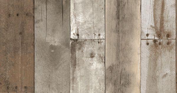 Repurposed Wood Removable Wallpaper Wood Wallpaper