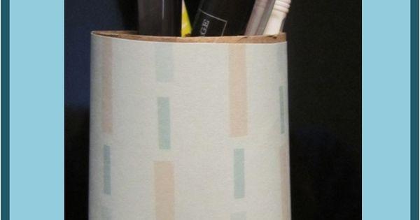 diy magnetic toilet paper roll pen holder orderly organization pinterest pen holders. Black Bedroom Furniture Sets. Home Design Ideas
