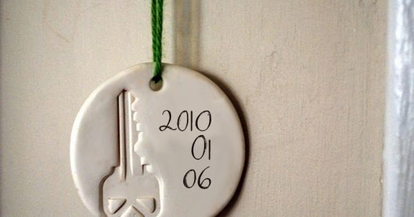 New Home Clay Ornament by in the little yellow house via decor