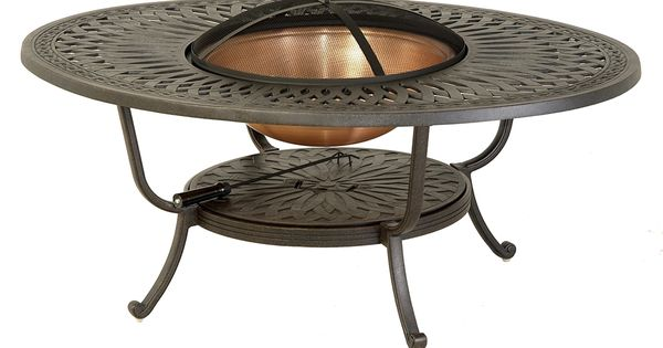 Hanamint Patio Furniture Fire Pit Hanamint Mayfair Outdoor 39 X 52 Oval Fire Pit Table