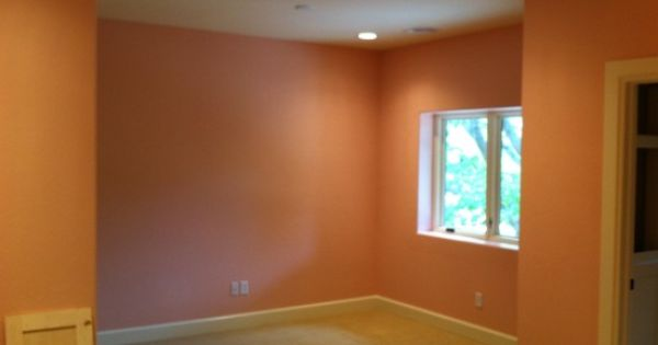Bedroom Plain Wall Minimalist Concept Concept Warm Bedroom Design Orange Painted Wall Thomas Residence