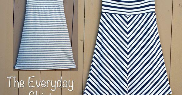 Yoga wait Knit Skirt pattern The Everyday Skirt - 1 yard of