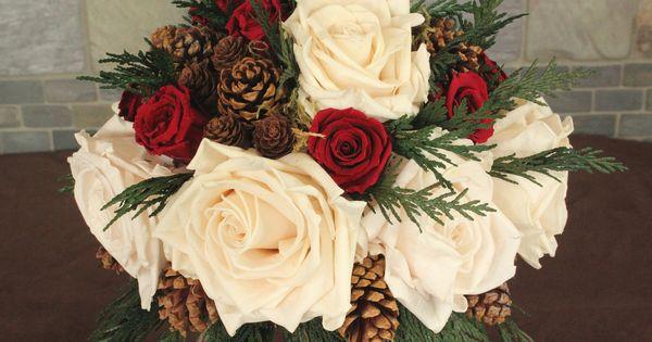Winter Wedding Bouquets | Winter Wedding Bouquet, Rustic Wedding, Holiday Wedding, Woodland ...