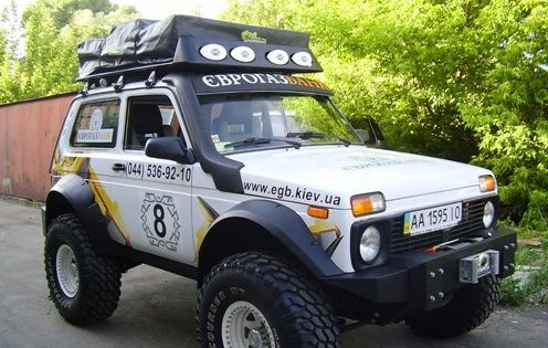 lada niva with rooftop tent auto pinterest rooftop. Black Bedroom Furniture Sets. Home Design Ideas