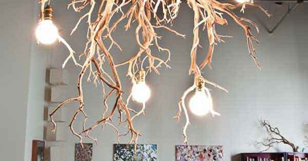lustre en branche d 39 arbre imaginative diy design d 39 interieur lampes pinterest cr atif. Black Bedroom Furniture Sets. Home Design Ideas