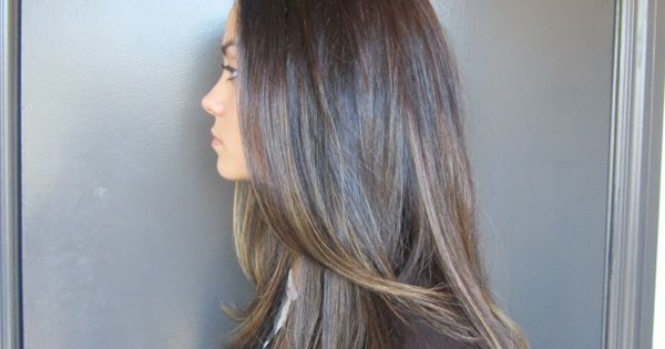 Delicate Brunette Highlights: Colorist Lauren Ashley brightens up her client's rich, brunette