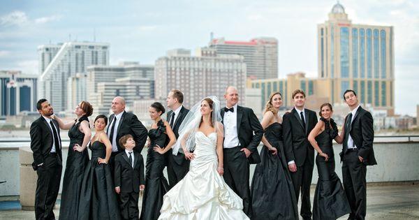 casino pier atlantic city wedding photo bridal party tinio lamb wedding pinterest fotografia acqua e fotografia di matrimonio