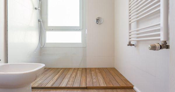 Tarima de madera ip en plato de ducha tarima en ba os for Tarima plato ducha