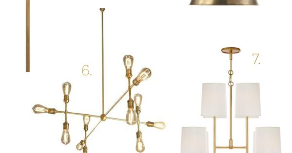 Brass Lighting Roundup  조명, 아이디어 및 인테리어