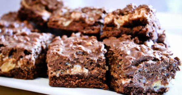 Lue Belles: Crispy Peanut Butter Brownies (aka Crack Brownies)!