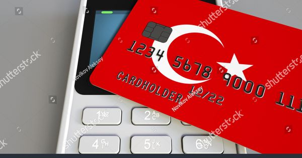 Payment Or Pos Terminal With Credit Card Featuring Flag Of Turkey Turkish Retail Commerce Or Banking System Conceptual 3d Renderingcard Credit Card Cards Pos