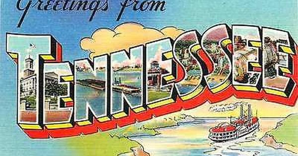 Tennessee Tn 1940 Large Letter Greetings From Tennessee Antique