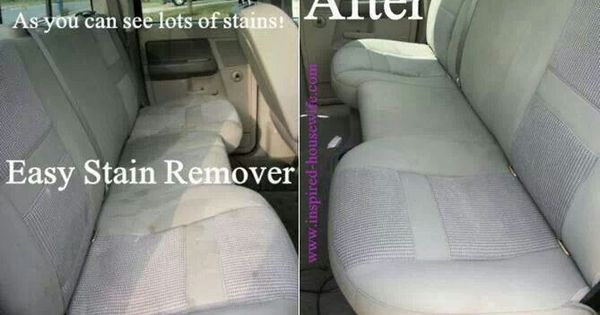 car seat stain remover have to try pinterest upholstery cars and stains. Black Bedroom Furniture Sets. Home Design Ideas
