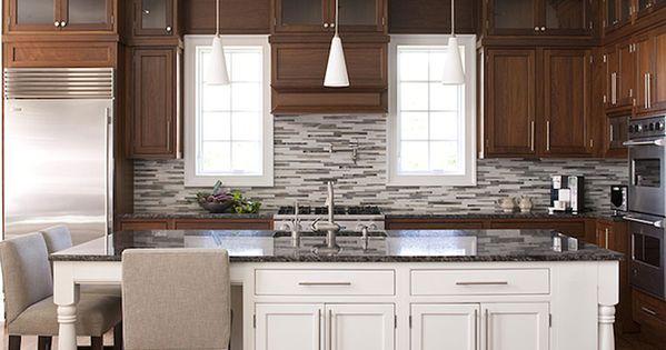 Suzie: Elissa Grayer Design   Wonderful Two Tone Kitchen Design With Coffee  Stained Kitchen ... | Kitchen Ideas | Pinterest | Armários De Dois Tons, ... Part 30