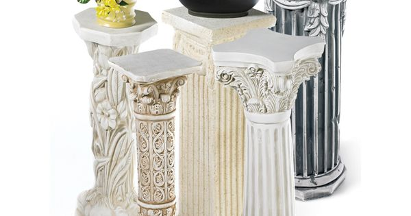 Plaster Pedestals Great For Lots Of Uses Plant And Or