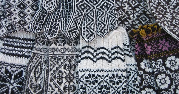 Mittens, Black and white mittens and Black white on Pinterest