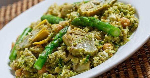 Asparagus artichoke quinoa salad