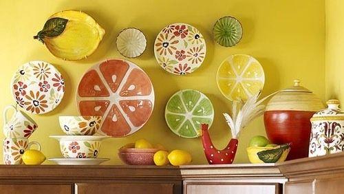 Lemon Theme Kitchen Choose Interesting Accent Pieces