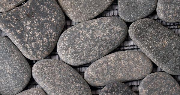 Black stone creations bathroom designs and bathroom renovations in - Solistone 6009 River Gray River Rock Floor Tile Floors