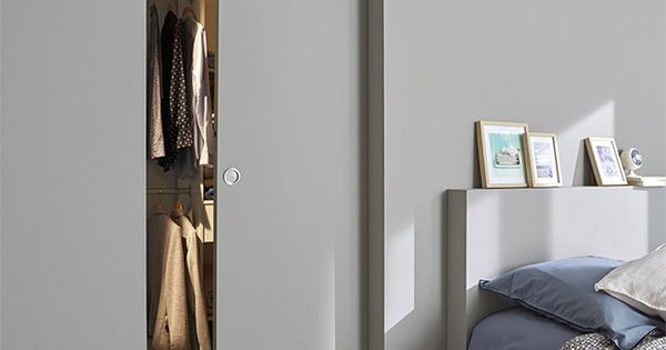 Porte coulissante pr peinte 83 cm syst me galandage for Porte salon vitree castorama