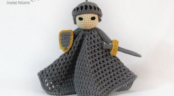Noble Knight Lovey CROCHET PATTERN instant download by Bowtykes, $4.50