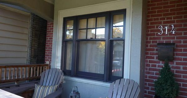 black double hung window in Toronto | black windows ...