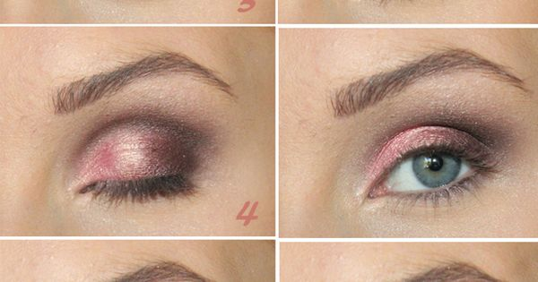 pretty pink smokey eyes makeup eyes beauty