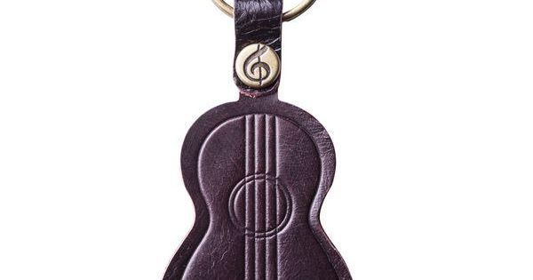 Real leather ukulele keychain gift leather keychains for Porte ukulele