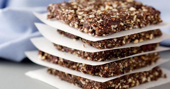 Choco Cherry Almond Energy bars via Dramatic Pancake