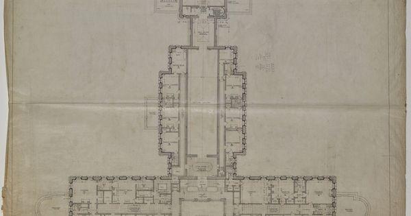Lynnewood Hall Second Floor Plan Architectural Floor