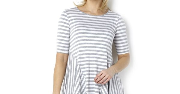 Yong Kim Jersey Short Sleeved Stripe Tunic. | Summer Style ...