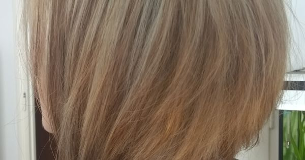 Carre plongeant long et m ches blondes hairs pinterest blondes - Carre plongeant meche blonde ...