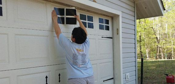 Use these easy to apply decals to dress up a boring garage for Dress up your garage door