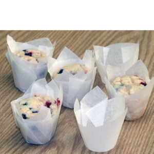 Mini White Tulip Baking Cups 100 Pkg Cute Mini Muffins Kitchen Krafts With Images Baking Cups Baking Cupcake Liners
