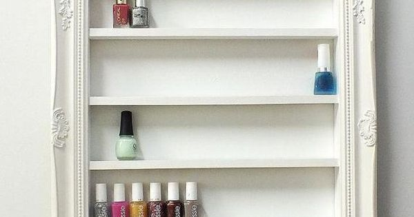 etag re vernis cadre nail polish framed shelf rangement vernis ongles nail polish storage. Black Bedroom Furniture Sets. Home Design Ideas