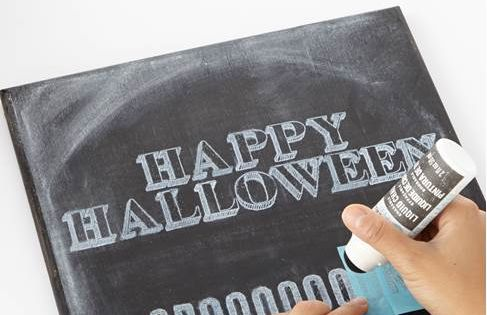 Use Erasable Liquid Chalk and stencils from #marthastewartcrafts to create unique Halloween Decor | See more about Halloween Tombstones, Halloween and Stencil.