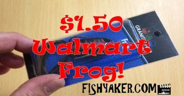 Walmart granite river topwater frog bass lures for Walmart fishing worms