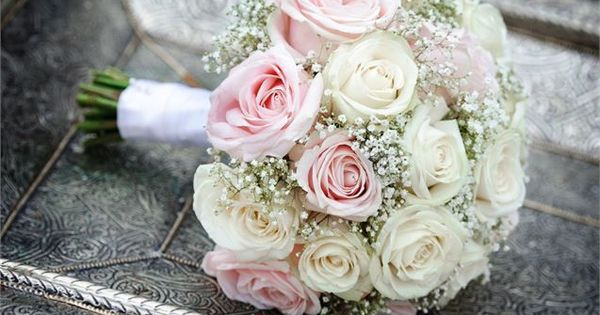 Roses are a classic choice for a bridal bouquet, and this is