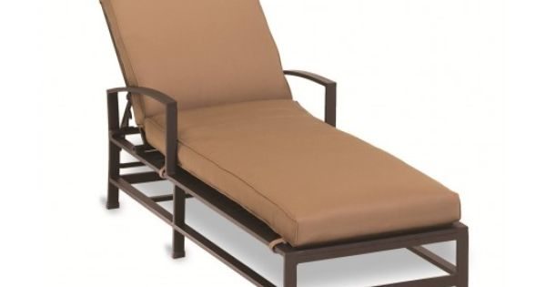 La jolla outdoor patio single chaise lounge by sunset west for Agio heritage chaise lounge
