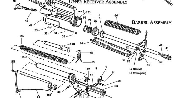 Ar 15 Upper Receiver Exploded View Diagram Survival