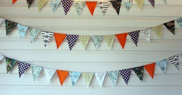 No sew Triangle Banner To MakeDIYCrafty Pinterest Plaid Baby Rooms And Babies