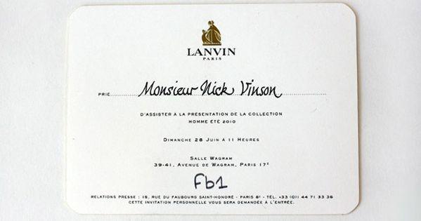 Paris Mens Fashion Week Invitations Fashion Show Invitation Fashion Invitation Business Invitation