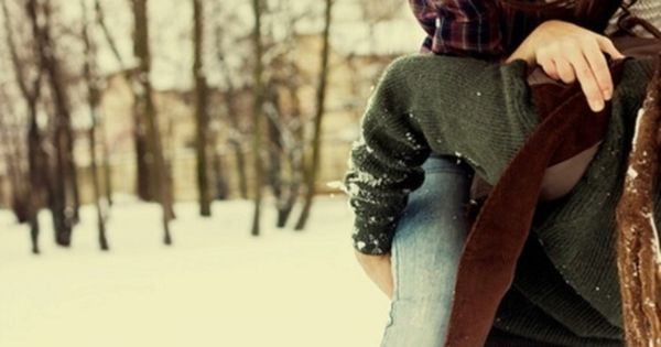 Piggy back rides in snow..... Might have to have winter engagement pictures