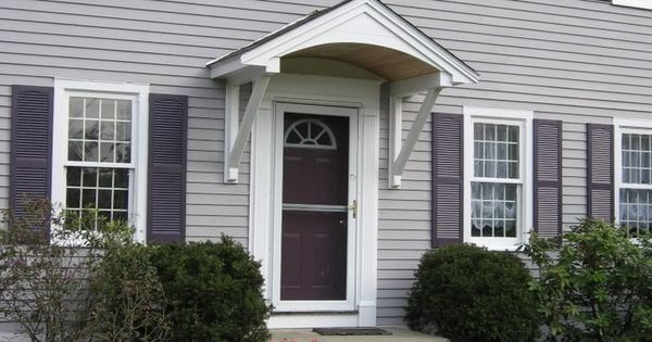 Simple Overhang Canopy Awning Hood Over Front Door
