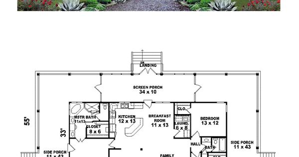 Country house plan 45764 total living area 1871 sq ft for Monster mansion mobile home floor plan